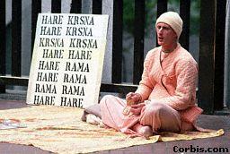 Harē Krišnas bhakta dzied mantru